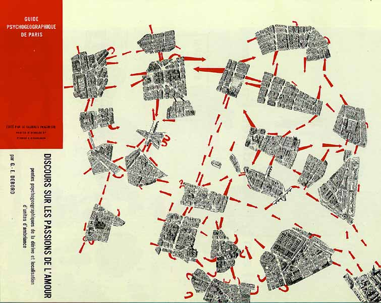 Guy Debord 1957: Psychogeographic guide of Paris