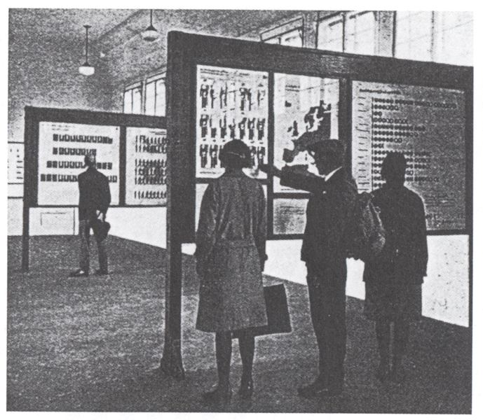 Одна из передвижных выставок начала 30-х годов