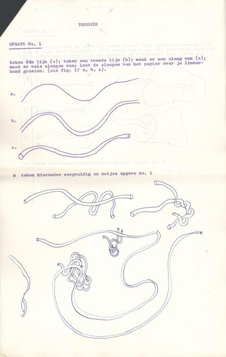 Beste Tijen (1967) Cursus Kontinue Tekening voor Beginners UD-13