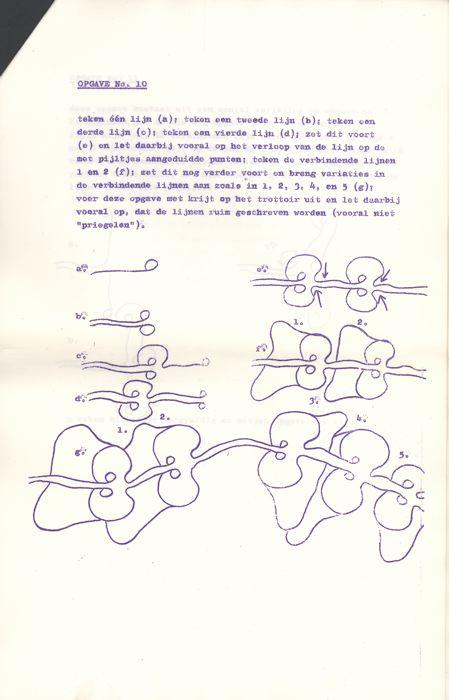 Verwonderend Tijen (1967) Cursus Kontinue Tekening voor Beginners OE-48